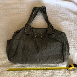Marc by Marc Jacobs grey Quilted duffle bag